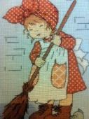 "Cross stitch pattern ""Cinderella""."