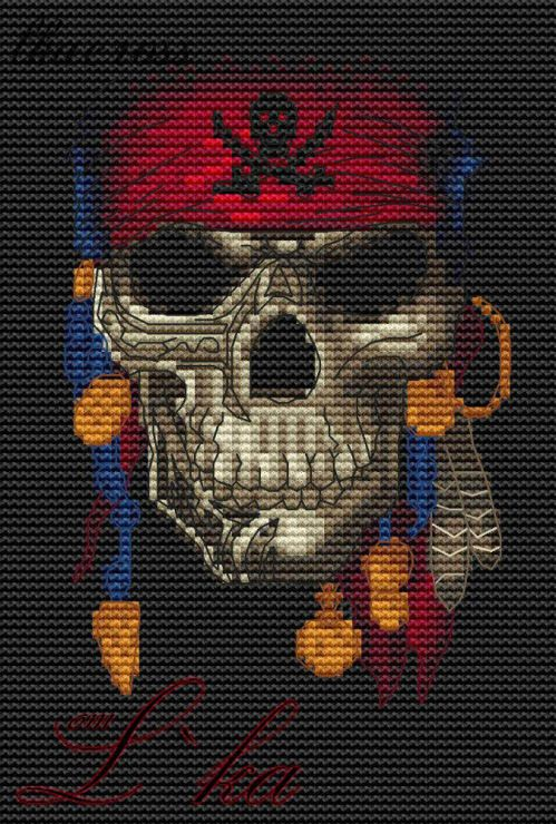XStitch pattern Jolly Roger