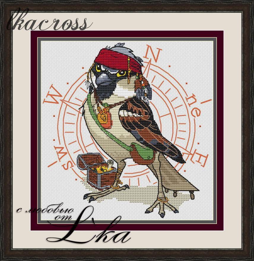 XStitch pattern Jack Sparrow