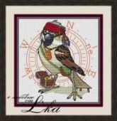 "Cross stitch pattern ""Jack Sparrow""."