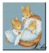 "Cross stitch pattern ""Little Bunny""."
