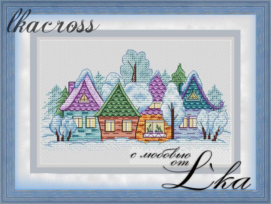XStitch pattern Little village