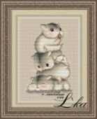 "Cross stitch pattern ""Hamsters""."
