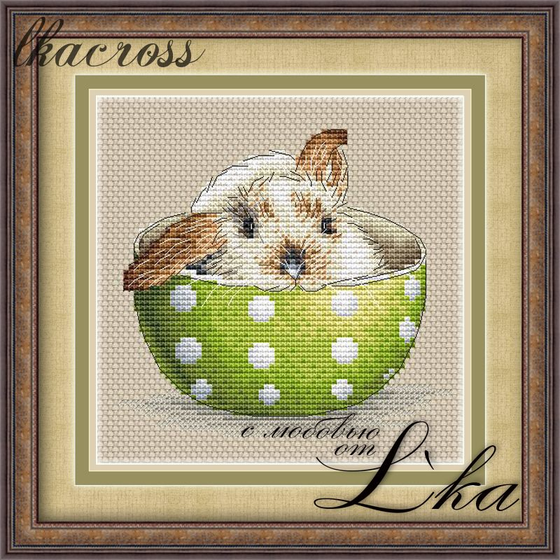 XStitch pattern Bunny in a сup