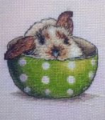 "Cross stitch pattern ""Bunny in a сup""."