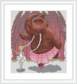"""Cross stitch pattern """"At the ballet""""."""