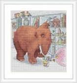 """Cross stitch pattern """"In the store""""."""