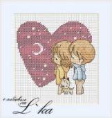 "Cross stitch pattern ""Heart""."