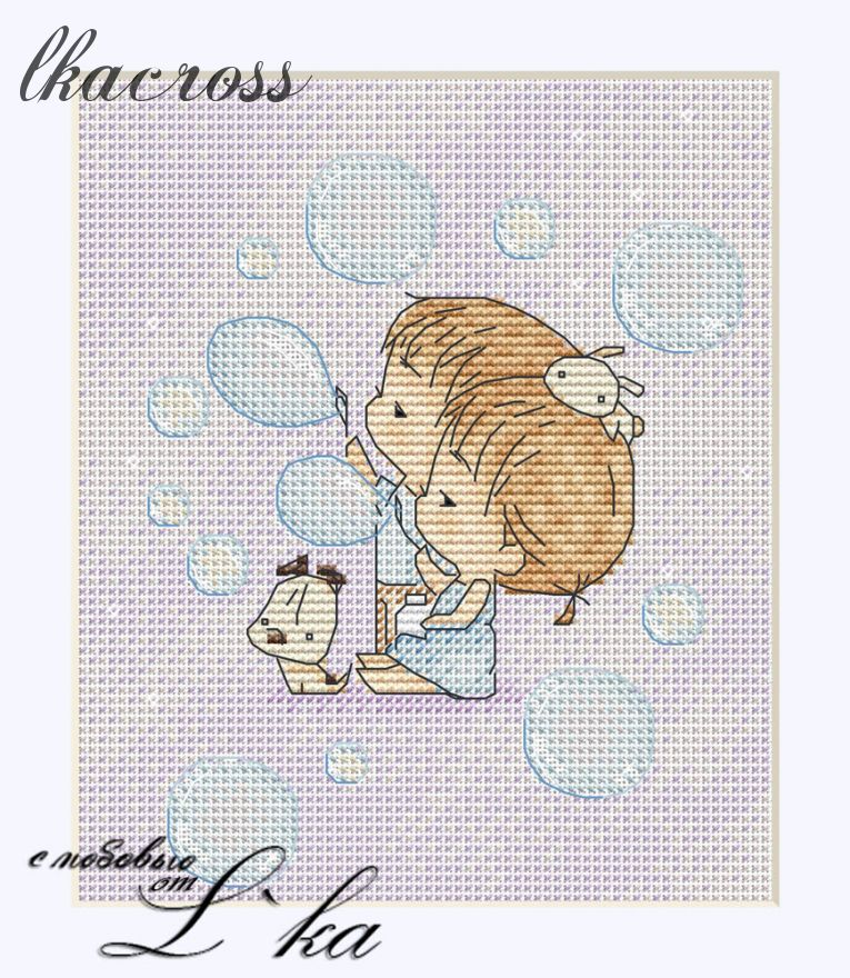 XStitch pattern Soap bubbles