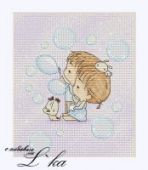 "Cross stitch pattern ""Soap bubbles""."