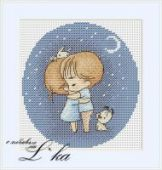 "Cross stitch pattern ""Night""."