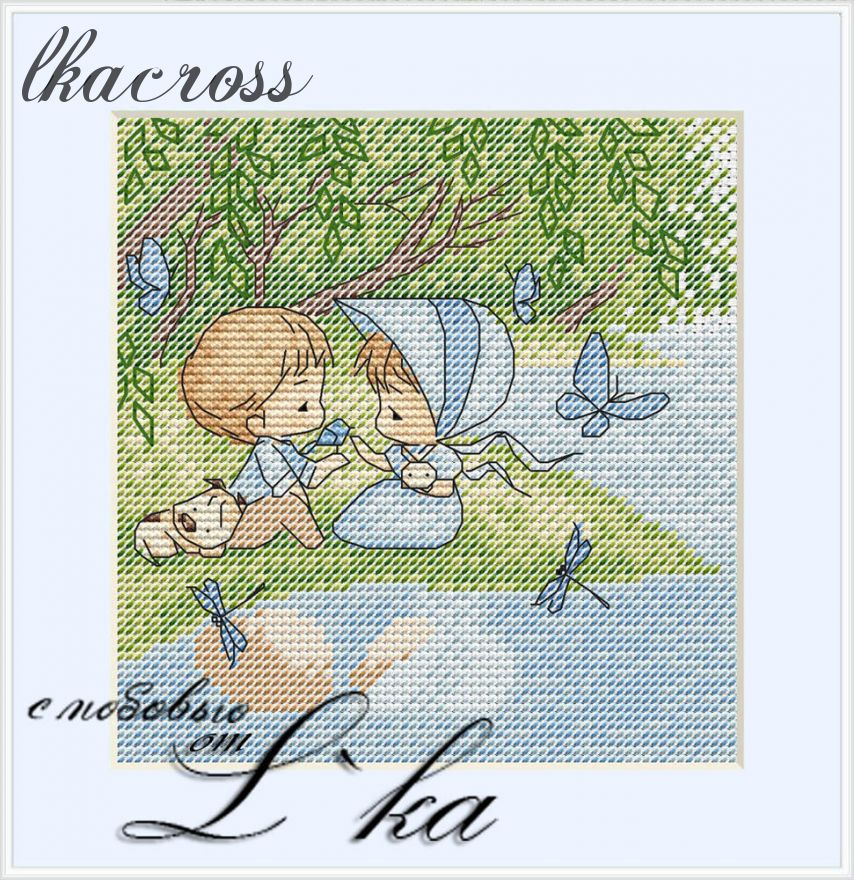XStitch pattern On the shore