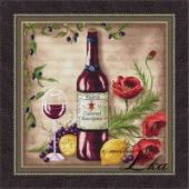 "Cross stitch pattern ""Vine Riserva1 - Red""."