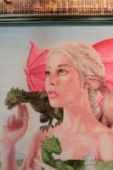 "Cross stitch pattern ""The mother of dragons""."