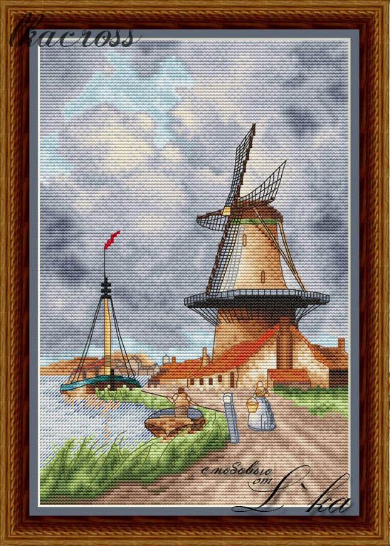 XStitch pattern Windmill