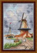 "Cross stitch pattern ""Windmill""."