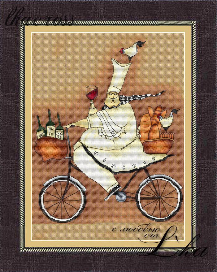 XStitch pattern French chef - 2