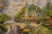 """Cross stitch pattern """"Chapel in the mountains""""."""