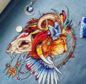 """Cross stitch pattern """"Lion1""""."""