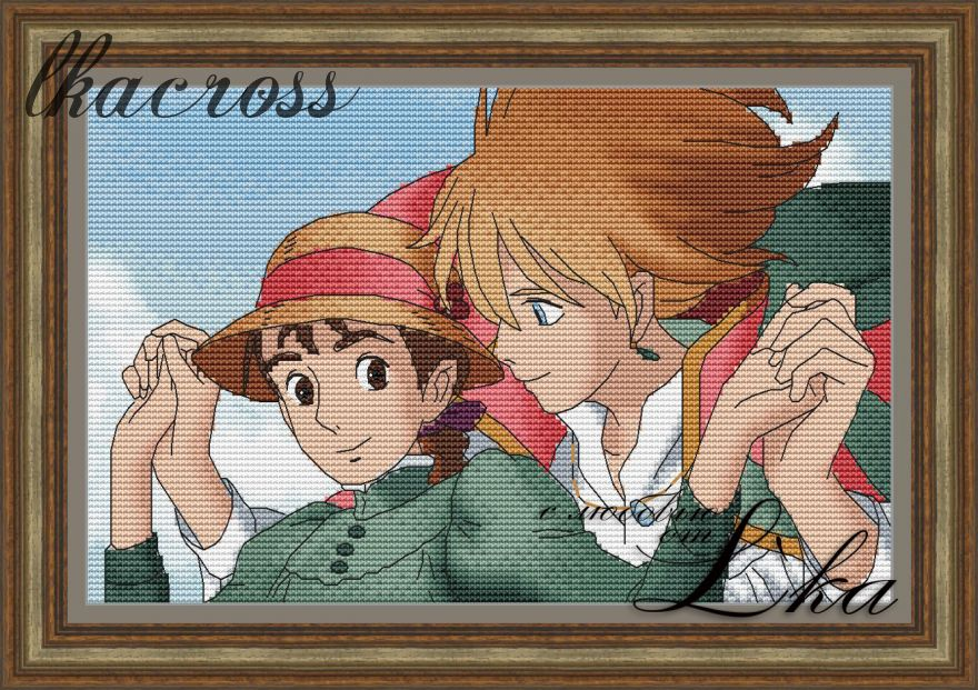 XStitch pattern Howl's moving castle - 1