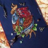 "Cross stitch pattern ""Horse""."