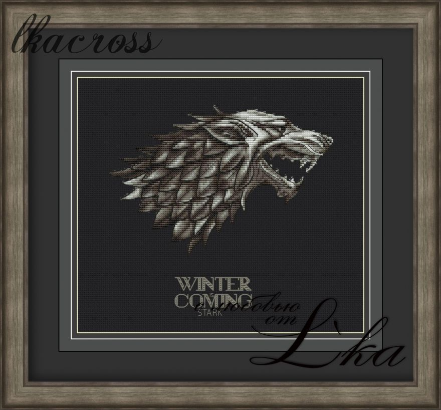 XStitch pattern Winter Is Coming