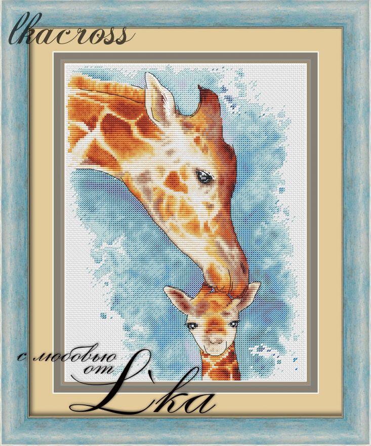 XStitch pattern Giraffes