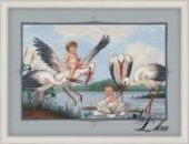 "Cross stitch pattern ""Storks""."
