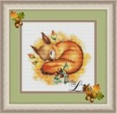 "Cross stitch design ""Autumn dream""."