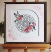 "Cross stitch pattern ""Mandala""."